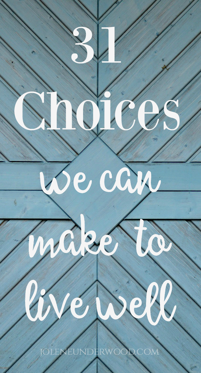 Christian's give in to defeat or poor decisions when they feel trapped and powerless. Whatever circumstance you face, you have choices you can make to live well and cultivate life.