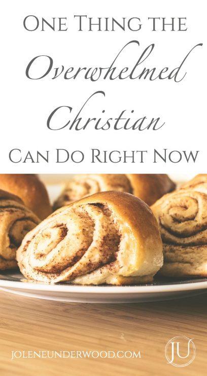overwhelmed christian