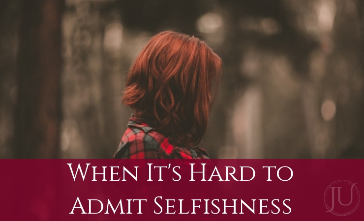 When it's Hard to Admit Selfishness