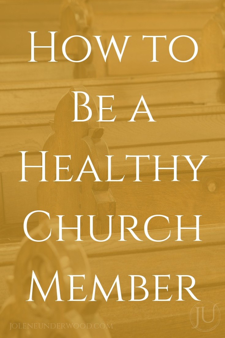 Church is messy and filled with people who are not spiritually or emotionally healthy, as are we. How can we grow and be healthy as a church member?