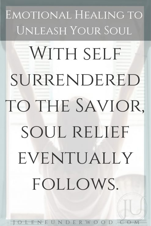 Christian surrender savior for emotional healing to unleash your soul